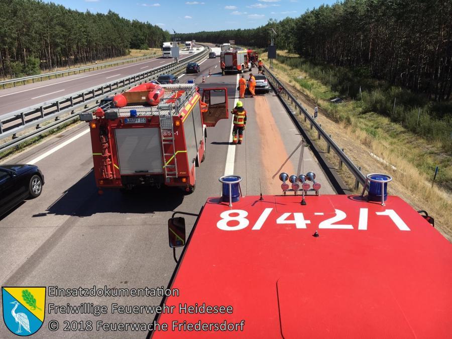 Einsatz 80/2018 | PKW in Vollbrand | BAB 12 AS Friedersdorf - AS Storkow | 03.07.2018