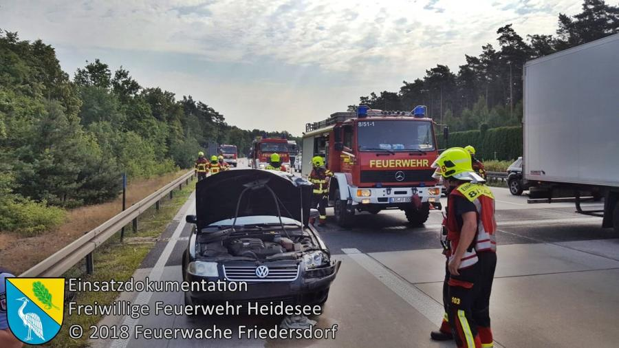 Einsatz 81/2018 | VU PKW - Transporter | BAB 10 AD Spreeau - AS Niederlehme | 05.07.2018