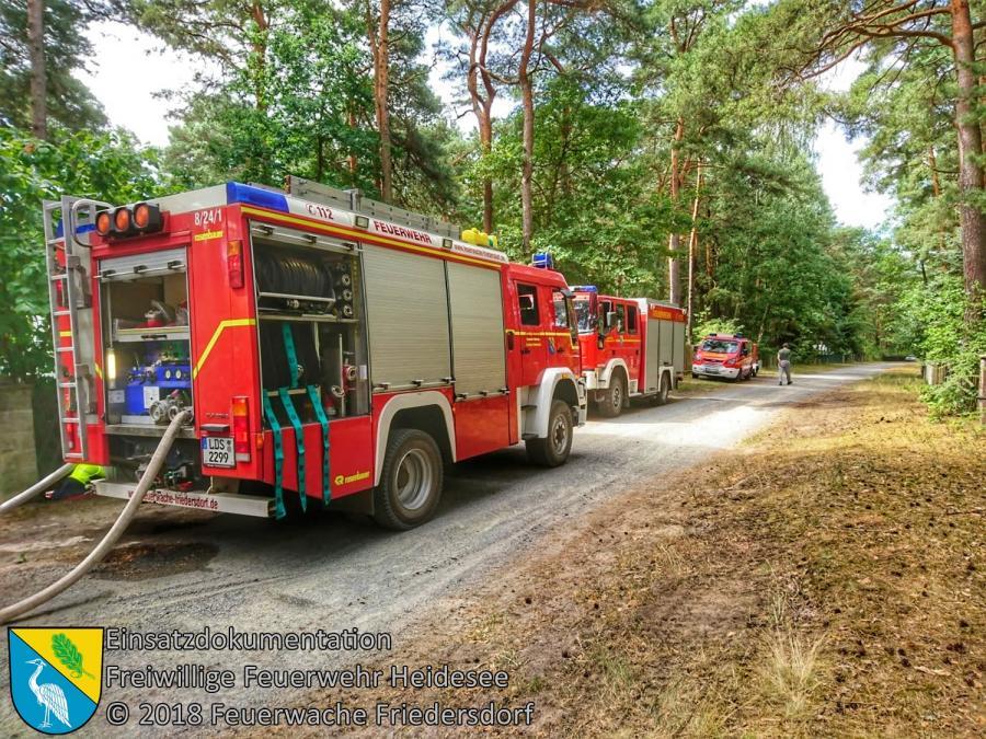 Einsatz 84/2018 | 800m² Waldbodenbrand | Bindow Mariannenstraße | 07.07.2018