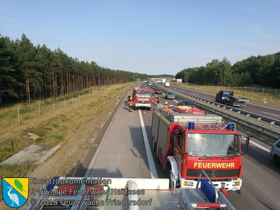 Einsatz 93/2018 | VU PKW - PKW | BAB 12 AS Friedersdorf - AS Storkow | 21.07.2018