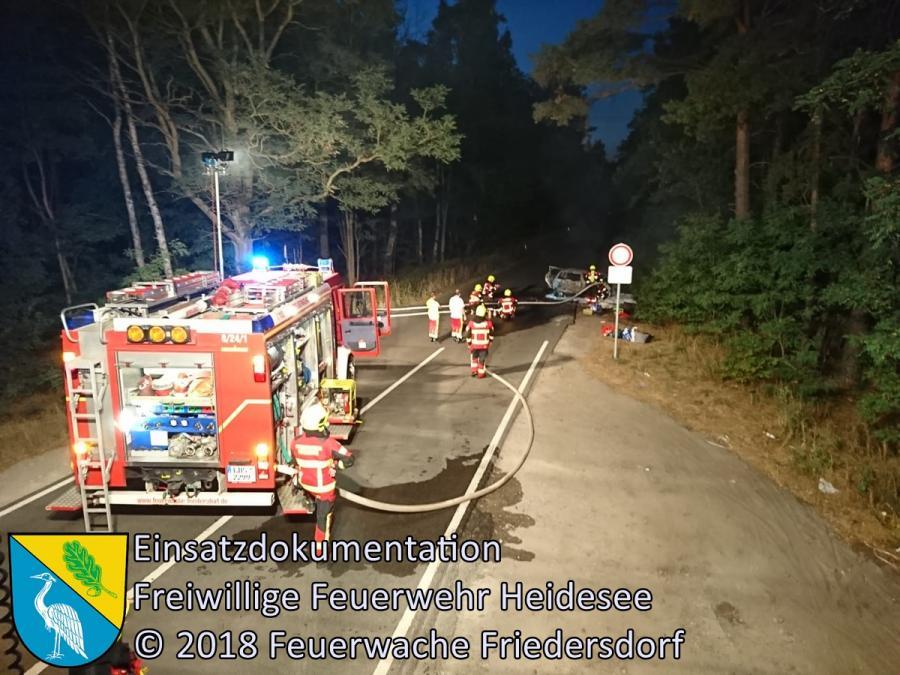 Einsatz 112/2018 | PKW in Vollbrand | BAB 12 AS Friedersdorf | 19.08.2018