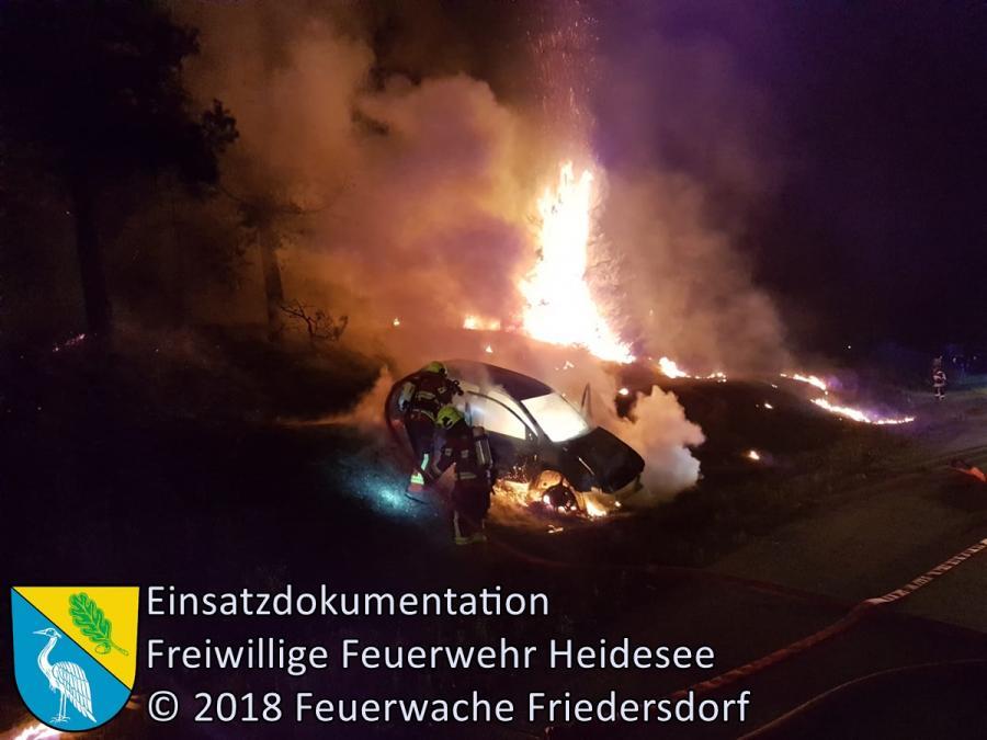 Einsatz 116/2018 | PKW überschlagen mit Brandfolge | BAB 10 AD Spreeau - AS Niederlehme | 25.08.2018