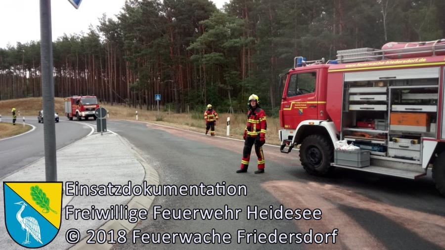 Einsatz 123/2018 | 50m Ölspur | BAB 12 AS Friedersdorf | 30.08.2018