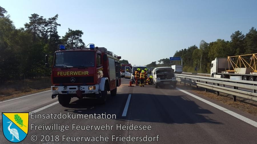 Einsatz 129/2018 | VU 3x Transporter | BAB 12 AS Friedersdorf - AS Storkow | 19.09.2018