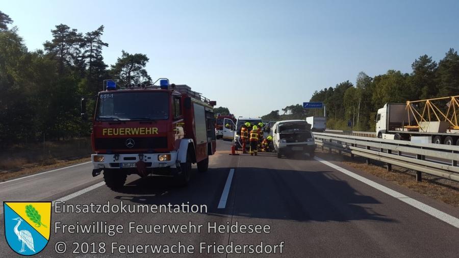 Einsatz 129/2018 | VU 3x Transporter | BAB 12 AS Friedersdorf - AS Storkow | 19.09.2018