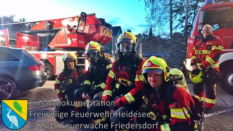 Einsatz 133/2018 | Wohnungsbrand | Bestensee Friedenstraße | 22.09.2018