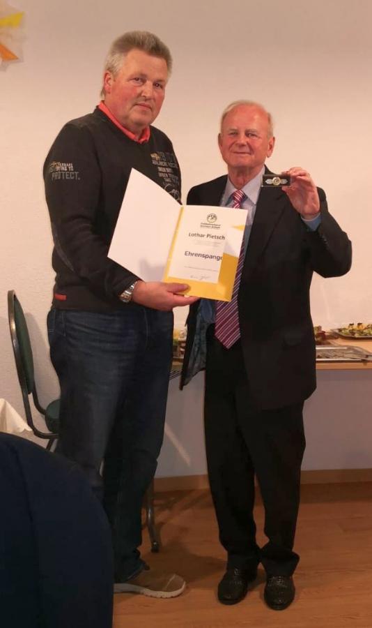 Auszeichnung von Lothar Pietsch