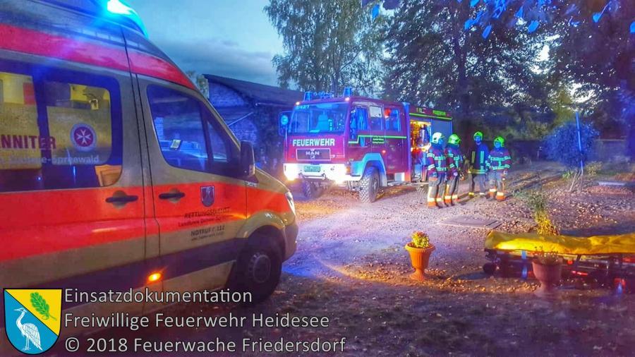 Einsatz 138/2018 | Türöffnung | Blossin Waldweg | 07.10.2018