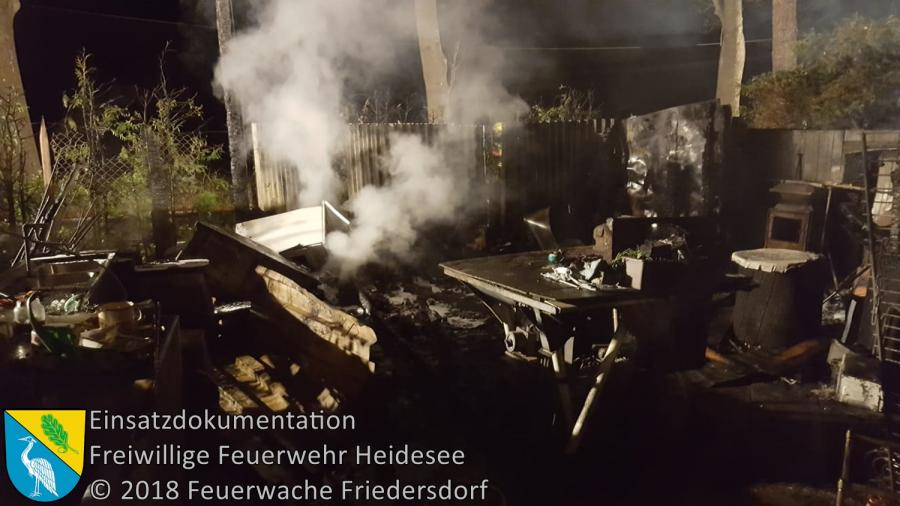 Einsatz 140/2018 | Schuppenbrand | Blossin Kolberger Straße | 15.10.2018