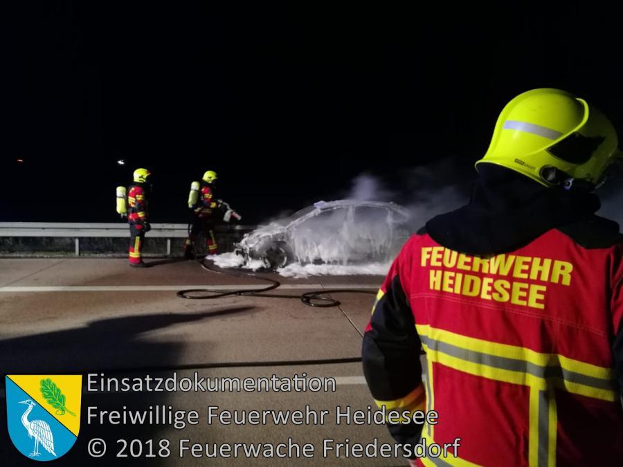 Einsatz 144/2018 | PKW in Vollbrand | BAB 12 AS Friedersdorf - AS Storkow | 29.10.2018