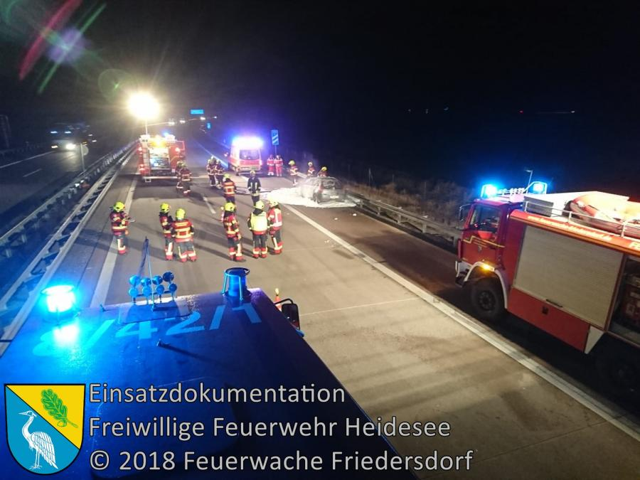 Einsatz 144/2018 | PKW in Vollbrand | BAB 12 AS Friedersdorf - AS Storkow | 29.10.2018