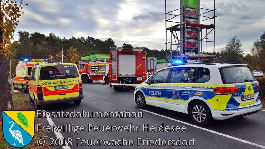 Einsatz 145/2018 | Motorrad gegen PKW | L40 OV Friedersdorf - Wolzig | 30.10.2018