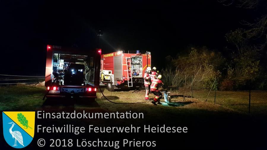 Einsatz 146/2018 | Brennt Laubhaufen | Kolberg Kolberger Dorfstraße | 05.11.2018