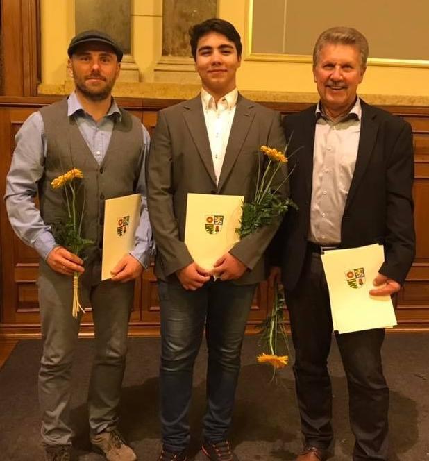 Sportleherung 2018 bei Landrat Sportler vom SV Lok ABG