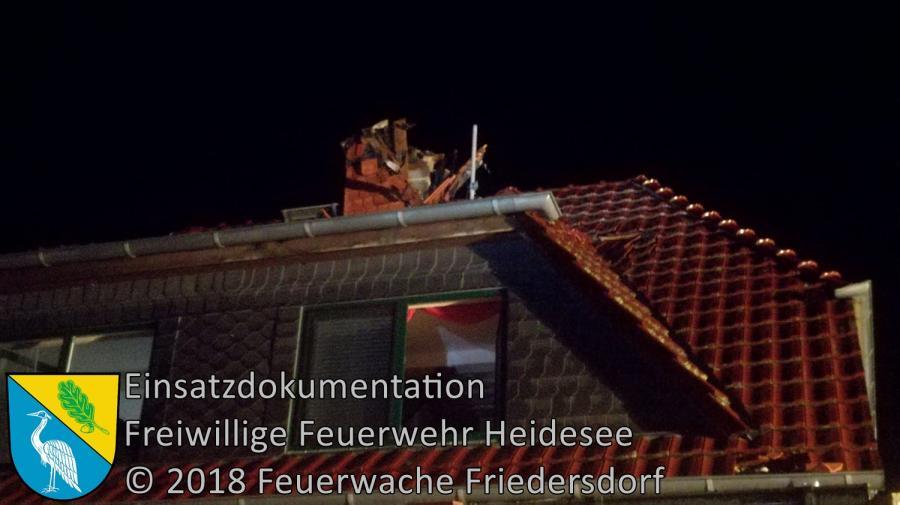Einsatz 150/2018 | Blitzeinschlag in Haus | Klein Eichholz Kolonie | 13.11.2018