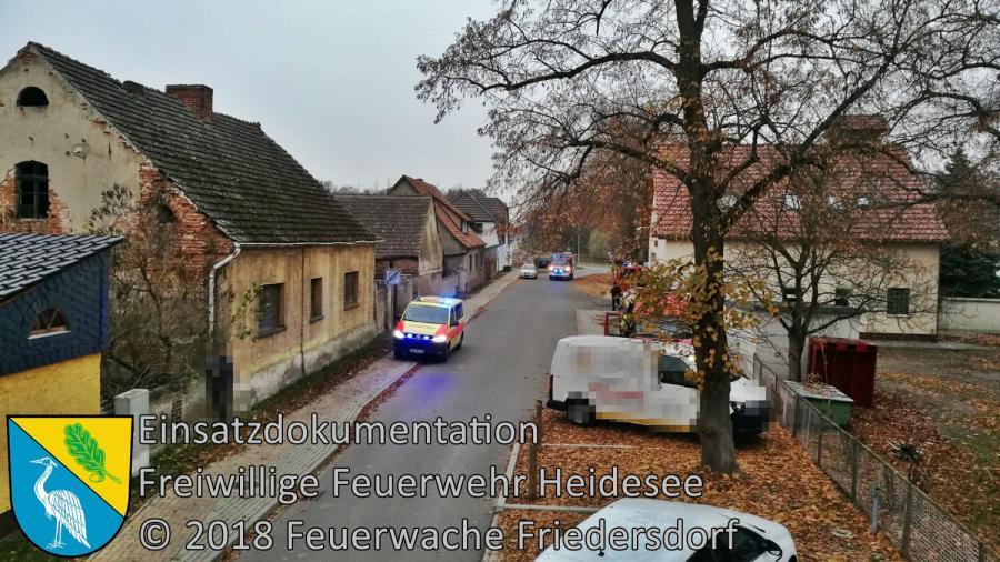 Einsatz 152/2018 | Holzheizkessel explodiert | Wolzig Klein Schauener Straße | 18.11.2018