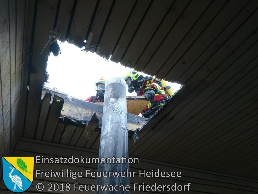 Einsatz 153/2018 | Brennt Zwischendecke am Gebäude | Blossin Waldweg | 21.11.2018