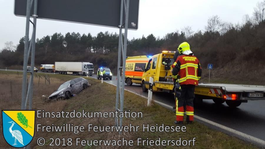 Einsatz 162/2018 | PKW in Graben | BAB 10 AS Niederlehme | 18.12.2018