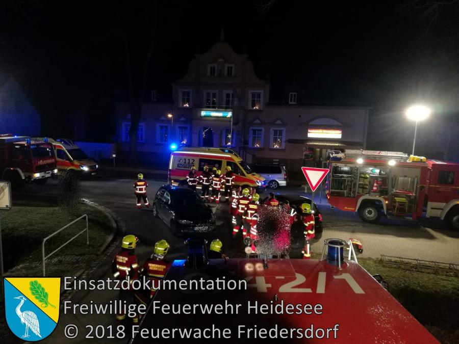 Einsatz 164/2018 | VU 2x PKW | Friedersdorf Lindenstraße | 24.12.2018