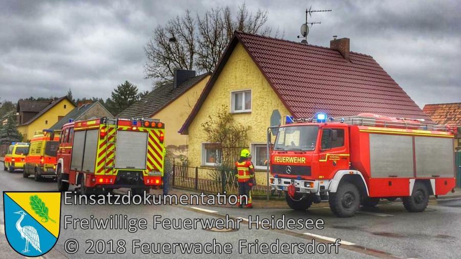 Einsatz 165/2018 | Tragehilfe für Rettungsdienst | Friedersdorf An der Storkower Straße | 25.12.2018