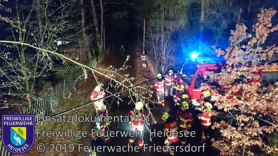 Einsatz 2/2019 | Telefonmast droht zu stürzen | Bindow Waldfrieden | 01.01.2019