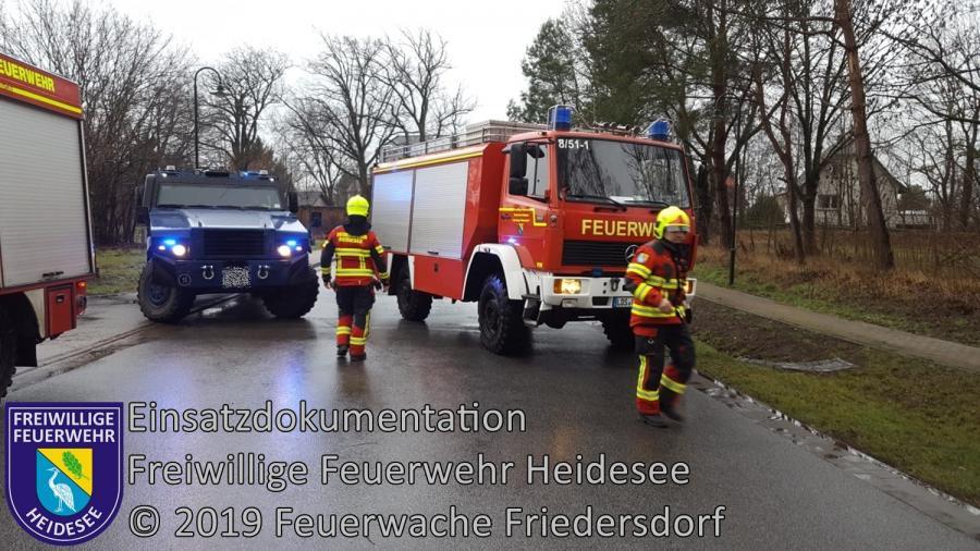 Einsatz 4/2019 | Baum auf Straße | L 39 OV Friedersdorf - AS Friedersdorf | 08.01.2019