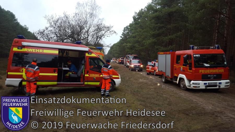 Einsatz 5/2019 | Bombensprengung | Waldgebiet Streganz | 16.01.2019