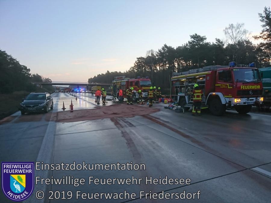 Einsatz 10/2019 | VU 2x PKW gegen LKW | BAB 10 AD Spreeau - AS Niederlehme | 28.01.2019