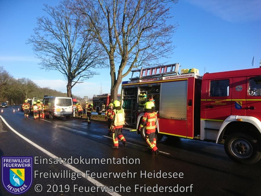 Einsatz 11/2019 | VU 3x Transporter | L 40 OV Wolzig - Friedersdorf | 28.01.2019