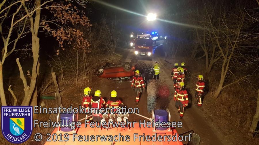 Einsatz 19/2019 | PKW überschlagen | Friedersdorf Grüner Weg | 22.02.2019
