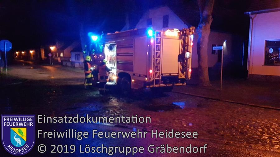 Einsatz 24/2019 | 2 Ölspur im Kurvenbereich | Gräbendorf Bestenseer Straße | 09.03.2019