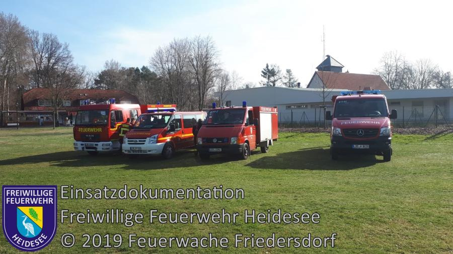 Einsatz 27/2019 | Einsatzübung KIEZ Frauensee | Gräbendorf Weg zum Frauensee | 30.03.2019