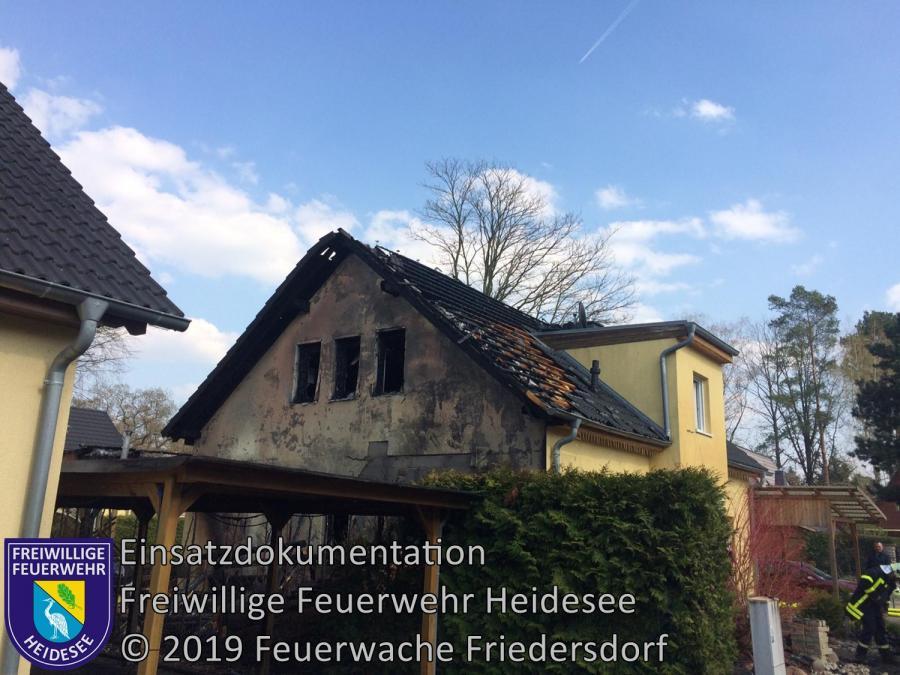 Einsatz 29/2019 | Gebäudebrand | Storkow (LOS) Meisenweg | 07.04.2019