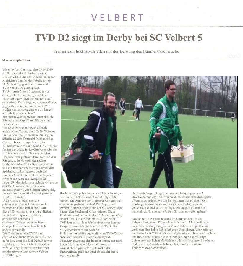 Bericht D2-SC Velbert