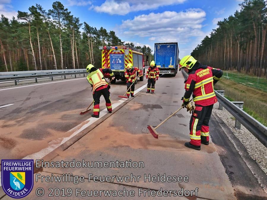 Einsatz 32/2019 | VU LKW auf LKW | BAB 12 AS Friedersdorf - AS Storkow | 10.04.2019