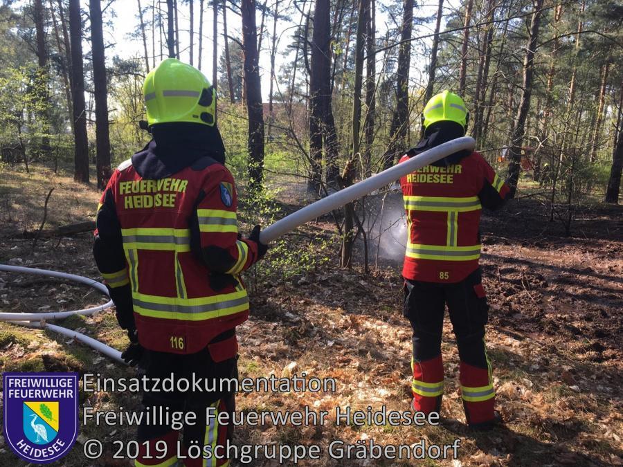 Einsatz 34/2019 | 200m² Waldbodenbrand | Prieros Am Streganzsee | 18.04.2019