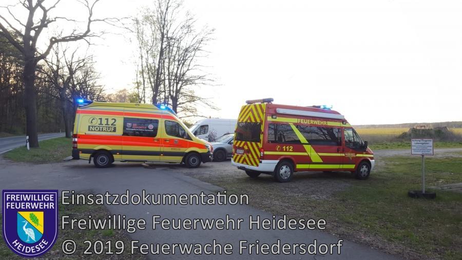 Einsatz 36/2019 | PKW gegen Fahrrad | L40 OV Friedersdorf - Wolzig | 18.04.2019