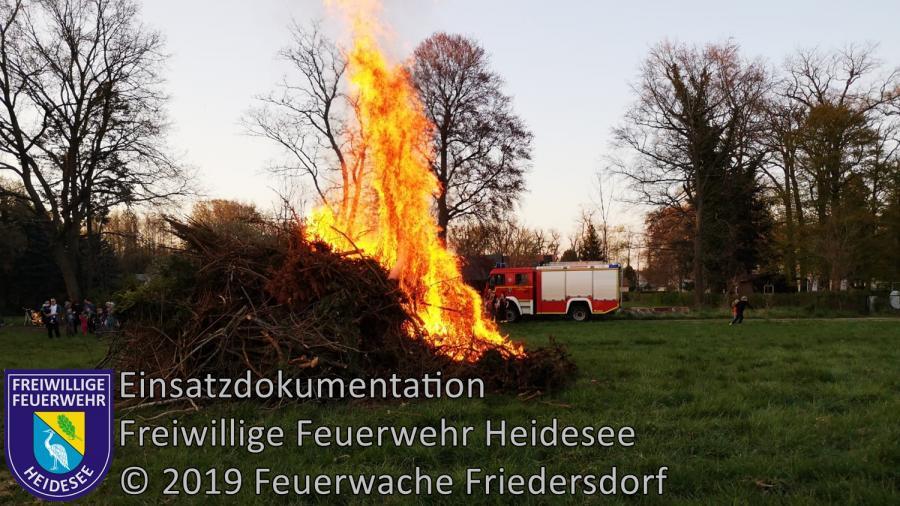 Einsatz 35/2019 | Absicherung Osterfeuer | Blossin Anger | 18.04.2019