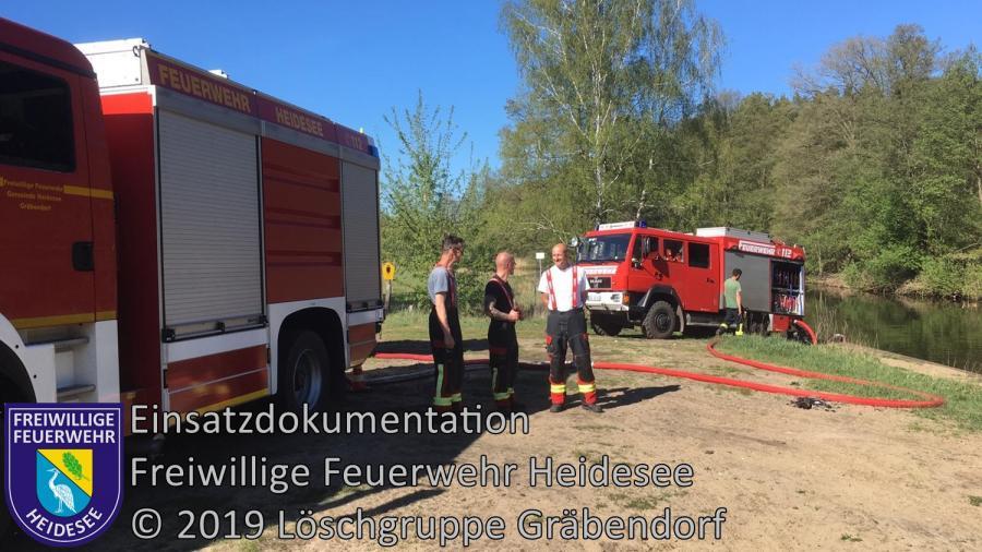 Einsatz 40/2019 | 1000m² Waldbodenbrand | Klein Köris Plattenweg Richtung Hermsdorf Mühle | 25.04.2019