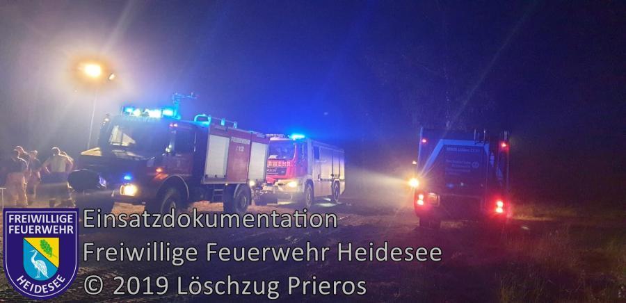 Einsatz 84/2019 | Großwaldbrand ca. 100 ha | Butzen Lieberoser Heide | 24.06.2019