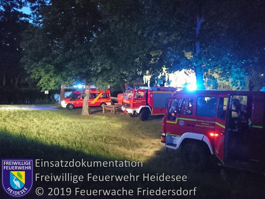 Einsatz 85/2019 | auslaufender Diesel aus Boot | Wolzig Storkower Kanal | 26.06.2019