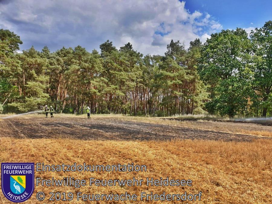 Einsatz 90/2019 | 1000m² Stoppelfeldbrand | K 6153 OV Kablow - Dannenreich | 02.07.2019