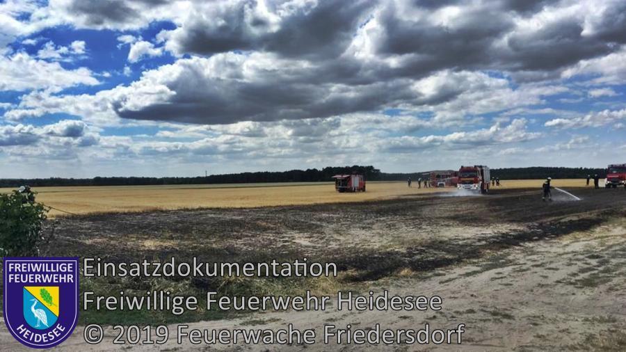 Einsatz 91/2019 | 2500m² Stoppelfeldbrand | K 6153 OV Kablow - Dannenreich | 02.07.2019