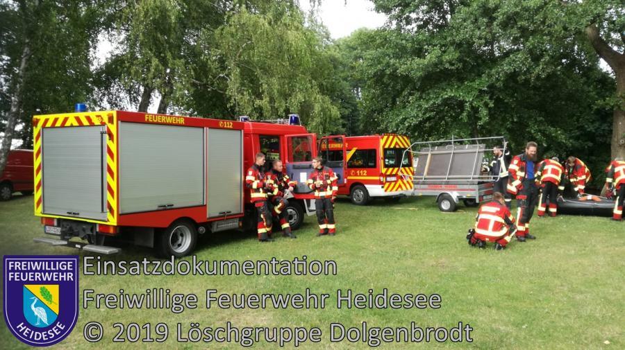 Einsatz 94/2019 | Bootsunfall | Kolberg Wolziger See | 08.07.2019