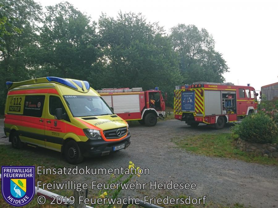 Einsatz 95/2019 | Türöffnung | Dolgenbrodt verl. Ernst-Thälmann-Str. | 13.07.2019