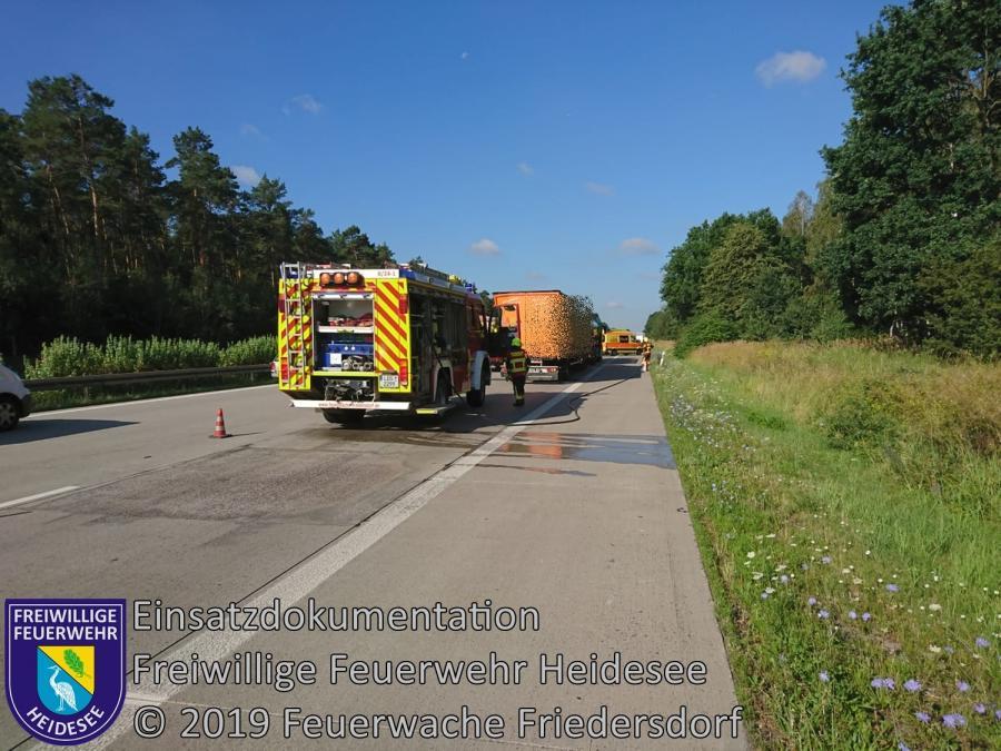 Einsatz 109/2019 | VU 3x LKW | BAB 10 AD Spreeau - AS Niederlehme | 23.07.2019