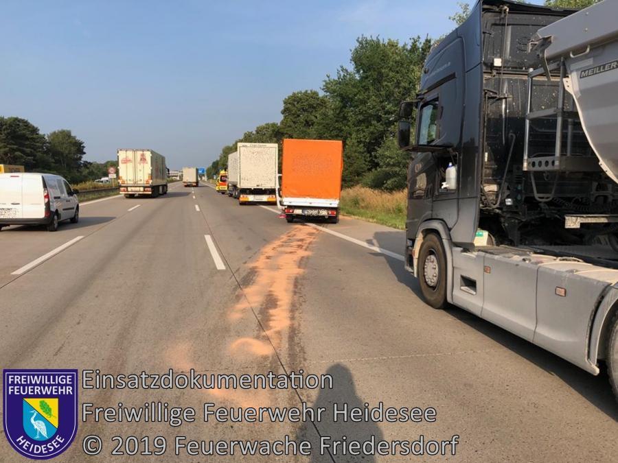 Einsatz 112/2019 | VU 2x LKW 1x Transporter | BAB 10 AD Spreeau - AS Niederlehme | 29.07.2019