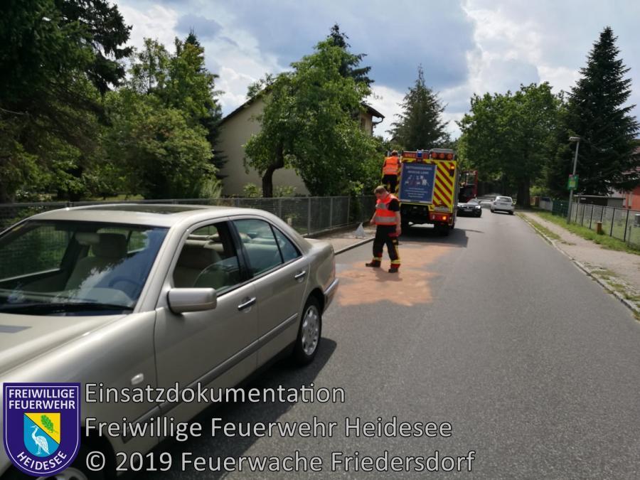 Einsatz 120/2019 | Dieselspur auf Fahrbahn | K6152 OV Gräbendorf - Gussow | 02.08.2019