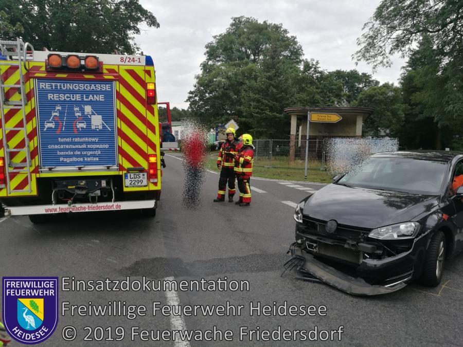 Einsatz 121/2019 | VU PKW gegen Krad | L40 OV Friedersdorf - Wolzig | 10.08.2019