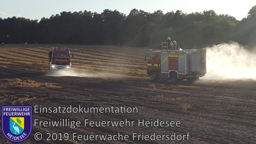 Einsatz 122/2019 | 3ha Getreidefeldbrand | Spreenhagen (LOS) Hauptstraße | 10.08.2019